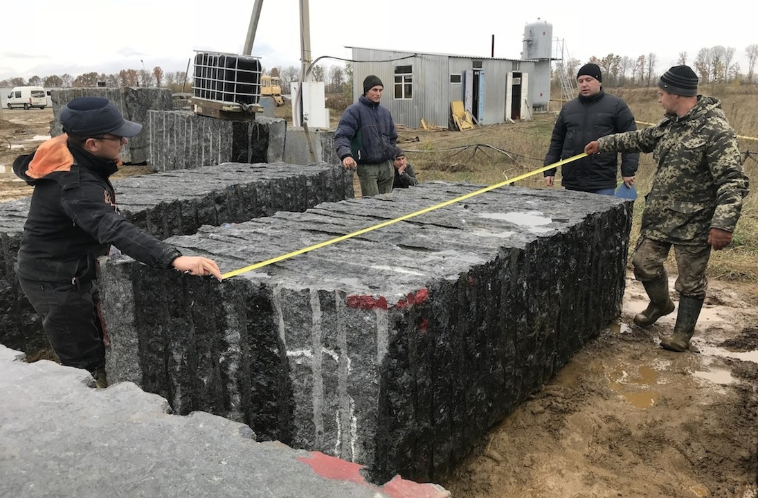 Volga Blue Granite Blocks