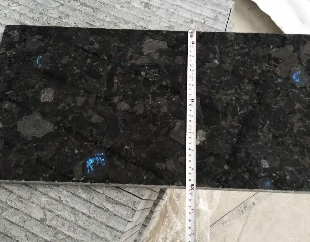 Polished Volga Blue granite tile. Order for Russia. фото 5eda1d8fb5780