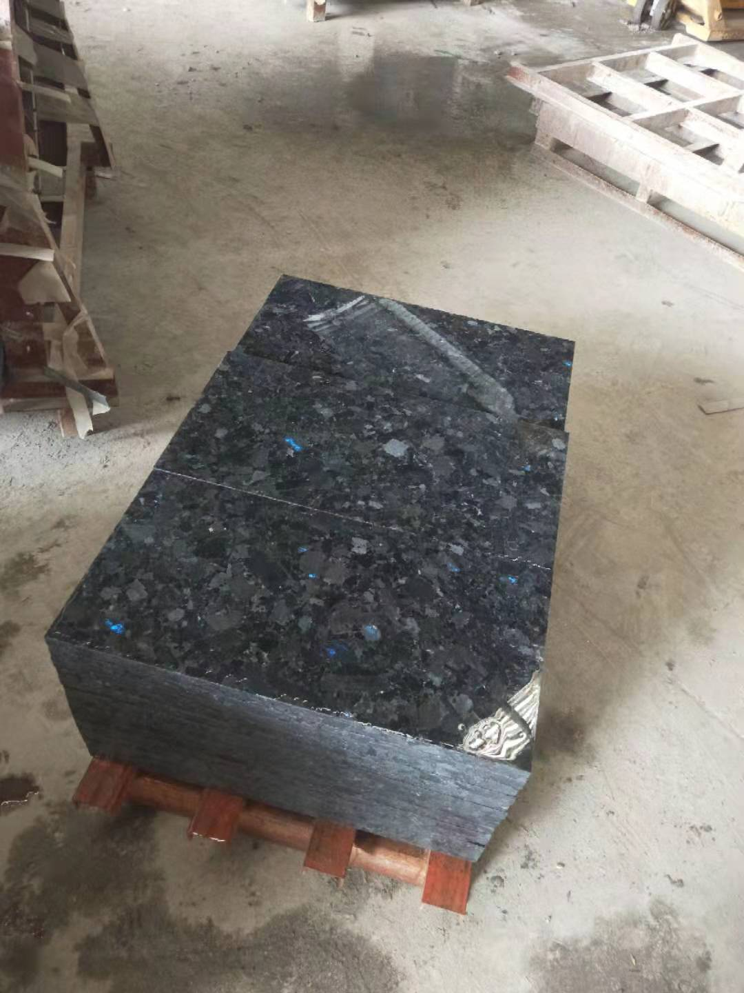 Polished Volga Blue tiles. 9 containers. Shipped. фото 61764c1467cc1